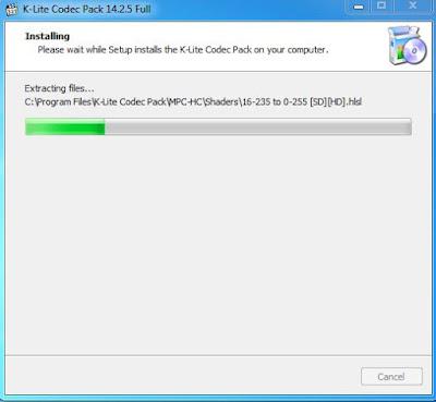 Proses Install codec