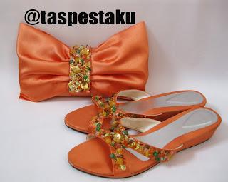 Handmade Tas Pesta Sandal Wedges