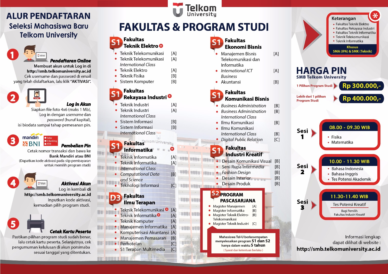 Brosur Telkom University
