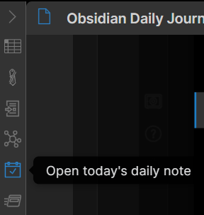 Create a new daily note