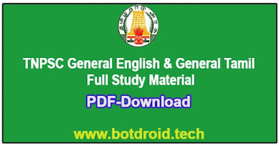 tnpsc group 4 general english and tamil study notes pdf