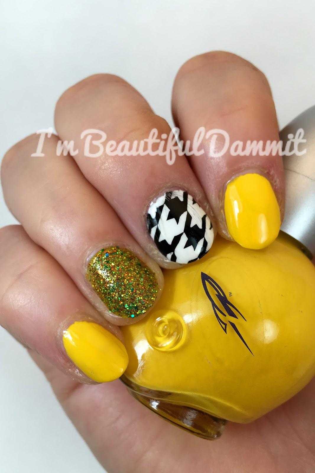 I\'m beautiful, dammit!: 31 Day Nail Art Challenge Days 3 & 4: Yellow ...