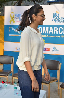 Actress Rakul Preet Singh at Endometriosis Awareness Walk at Apollo Cradle  0044.jpg