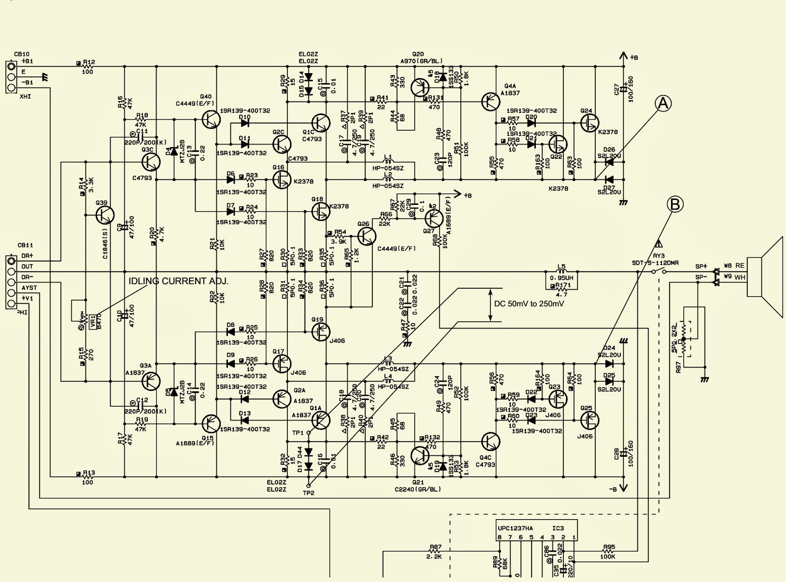 100w Btl Tda2030 Amplifier Circuit Amp Circuit Diagram