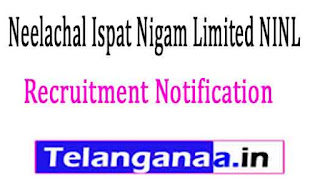 Neelachal Ispat Nigam Limited NINL Recruitment Notification 2017