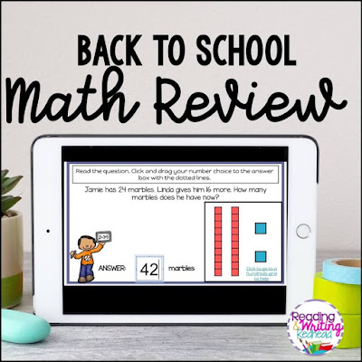 Back to school math review 3rd grade cover