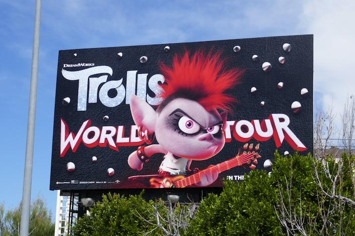 Queen Barb Trolls World Tour movie billboard