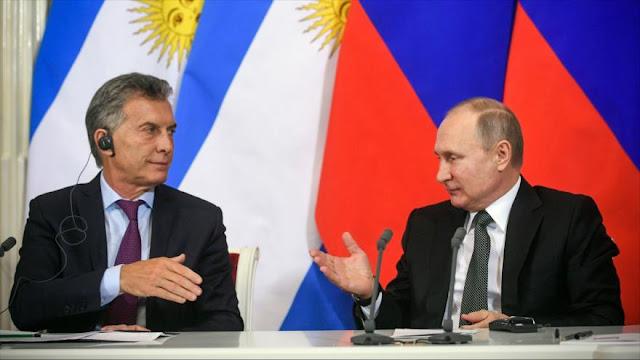 Putin expresa disposición a vender motores cohete a Argentina