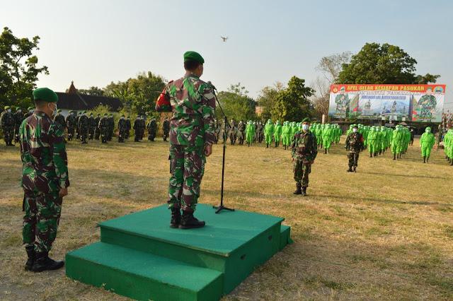 Dandim 0723/Klaten Pimpin Apel Gelar Kesiapan Pengamanan Pilkada Tahun 2020