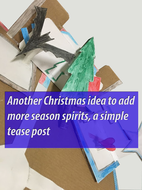 Another Christmas idea to add more season spirits, a simple tease post