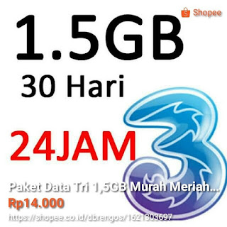 Voucher paket data three