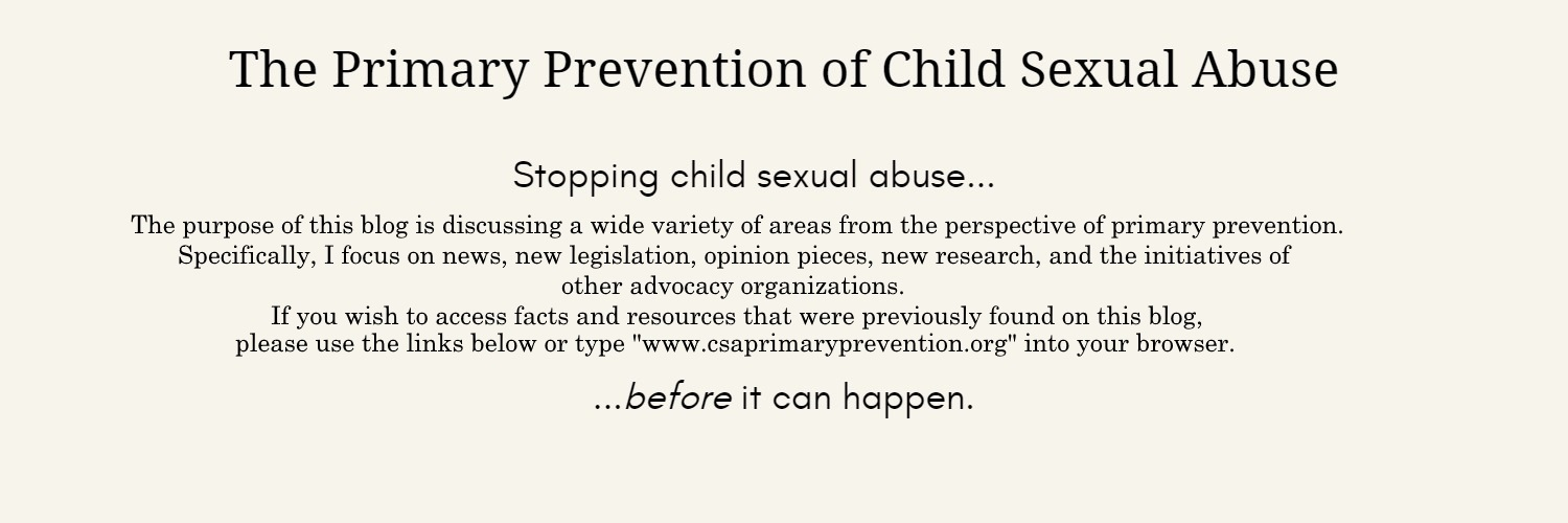 The Primary Prevention of Child Sexual Abuse