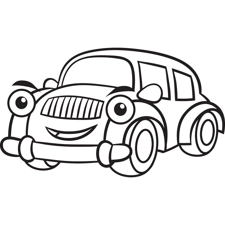 contoh gambar mewarnai mobil mewah