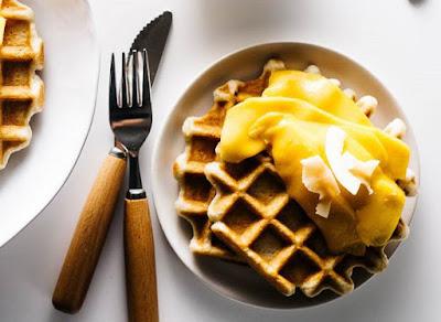 Tropical Mango Waffles Recipe
