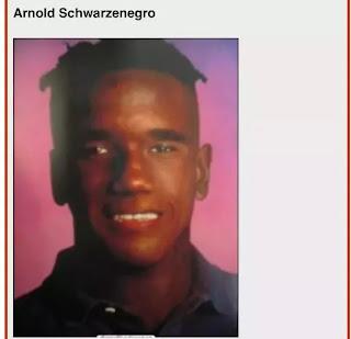 Persona negra parecido a Arnold Schwarzenegger