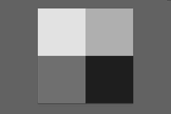 square document divided into 4 equal pieces