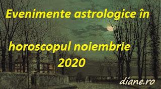 Evenimente astrologice în horoscopul noiembrie 2020