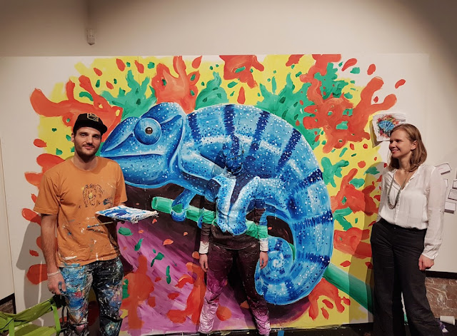 Art Truc Troc - Bozar Brussels - Ben Heine Art - Flesh and Acrylic Live Performance - Chameleon 2017-3
