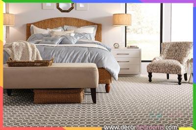 سجاد غرف النوم مرتب بطريقة عصرية