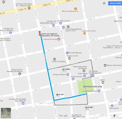 Mapa o Ruta para llegar a Mi Tienda Naturista Maicao