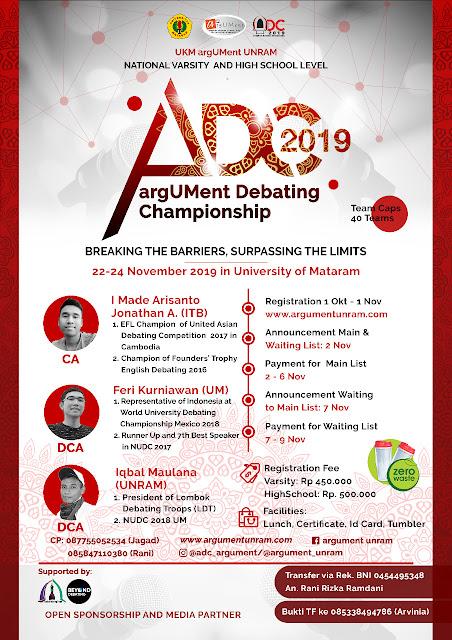 argUMent Debating Championship 2019