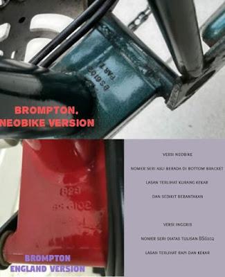 ciri nomor seri SN Brompton asli