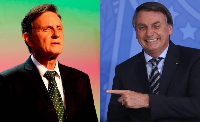 Presente de Natal de Crivella para Bolsonaro