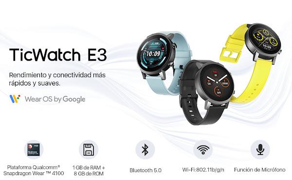 TicWatch E3 - Um smartwatch Wear 4100