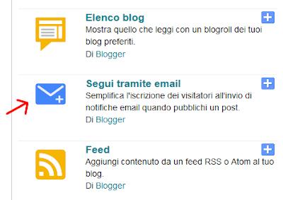 Aggiungere una newsletter al tuo sito blogger