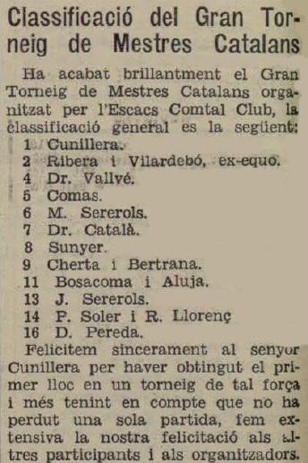 Recorte de La Humanidad, 28/7/1934