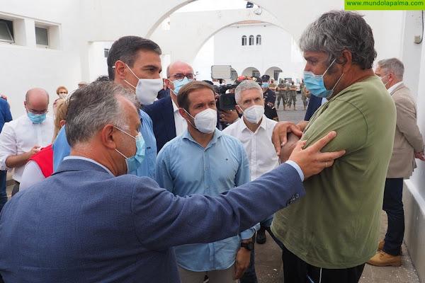 El presidente de Canarias apela a la máxima responsabilidad ante los efectos del volcán y anuncia un decreto ley urgente para ayudar a los afectados