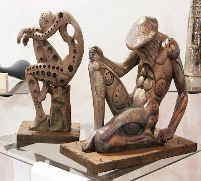 """Obras ganadoras del Concurso Internacional de Cerámica y Alfarería de la Rambla en la modalidad de """"Nuevas formas y diseño"""", año 2006"""