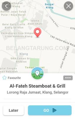 Lokasi Waze Al fateh Steamboat Klang