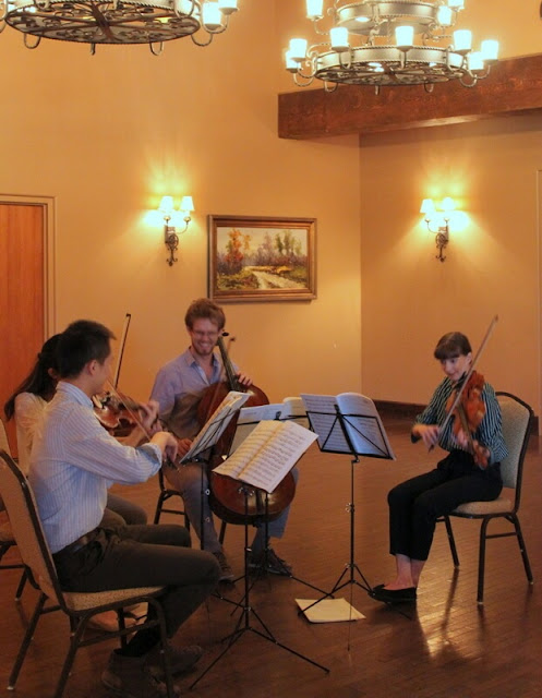 Enjoy live violin at the Angel Fire resort.
