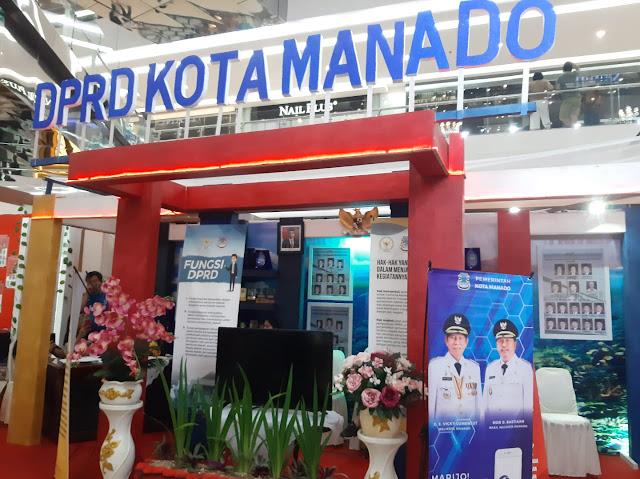 DPRD Kota Manado Tampilkan 40 Profil Anggota DPRD di Stand Legislative SulutGo Expo ke- 8