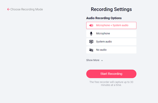 audio option from the following ones