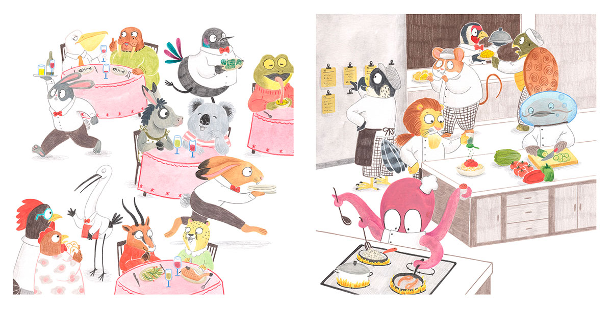 Entrevista a la ilustradora infantil Marvillar autora de Excelentísima Caperucita, Rapunzel tiene Piojos entre otros.