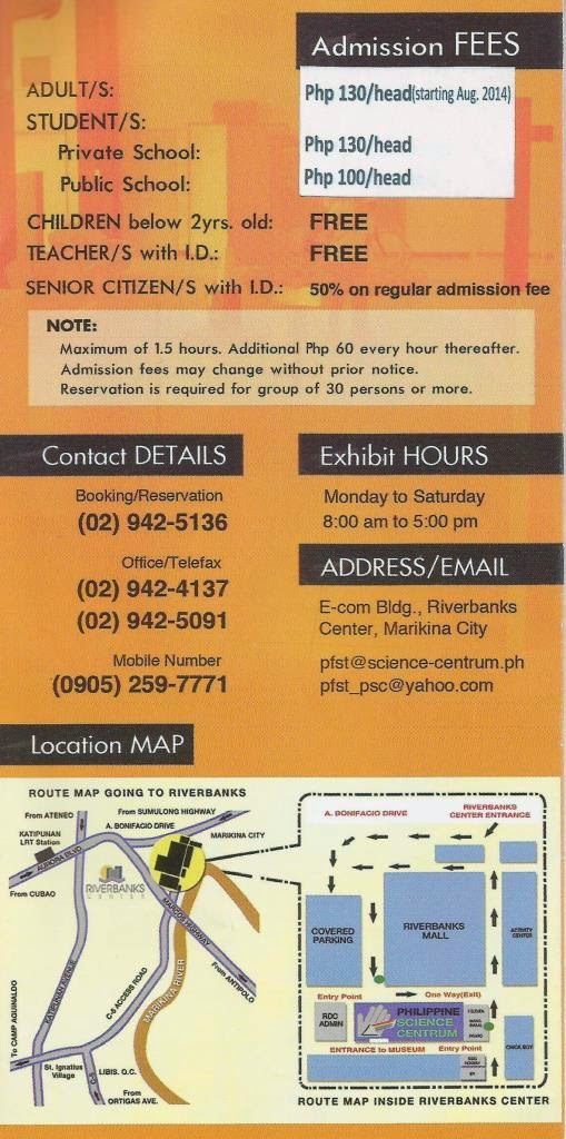 marikina riverbanks entrance fee