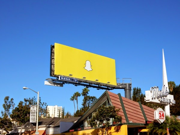 Snapchat logo billboard Sunset Strip