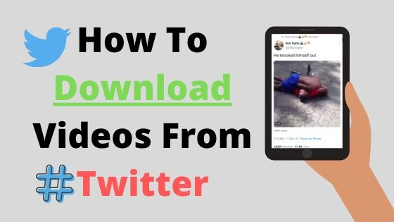 How to download video from twitter | smartphone or Desktop