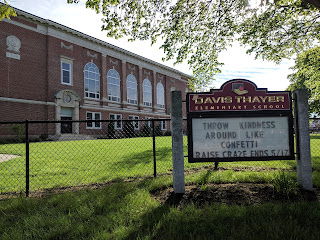 Davis Thayer school sign