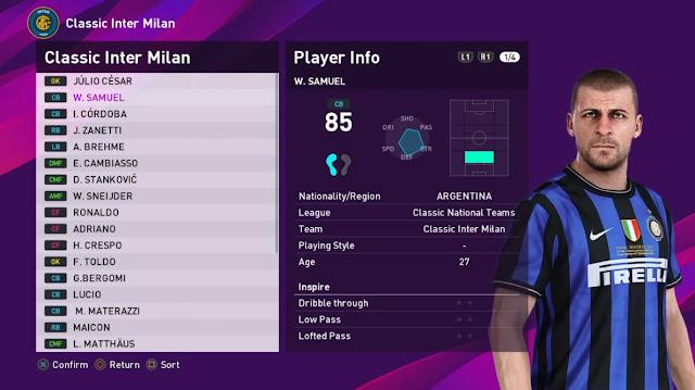 PES 2020 Classic Internazionale Milano Mod by aliheidari2520