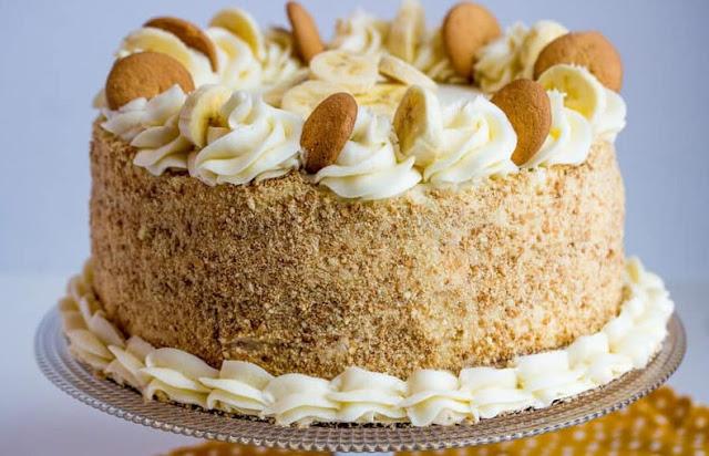 Banana Cream Cake #cake #desserts
