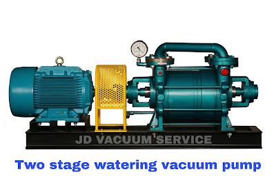 Liquid ring vacuum pump Single Two stage