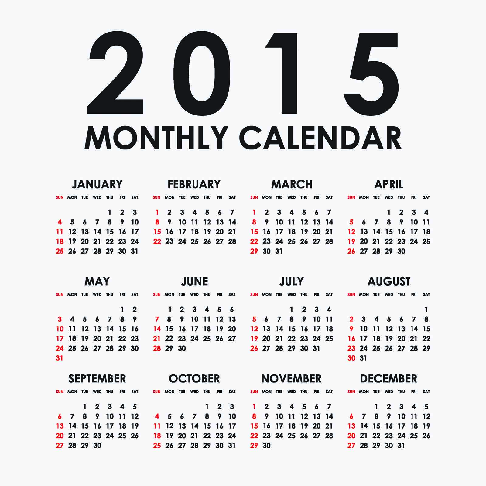 2015 4 month in a page free calendar autos for 4 month calendar template 2015