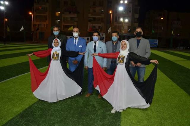 حفل مبهر في إفتتاح بطولة كأس مصر الأولي للميني فوتبول والإحتفال بذكري إنتصارات العاشر من رمضان