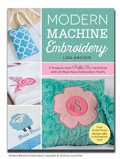 Modern Machine Embroidery Book by Lisa Archer of Pickle Pie Designs
