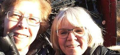 Norma Miller, Brenda Wilbee, Skagway AK 2019