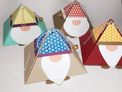 Dreiecksschachteln Weihnachts-wichtel Stampin' Up! www.eris-kreativwerkstatt.blogspot.de