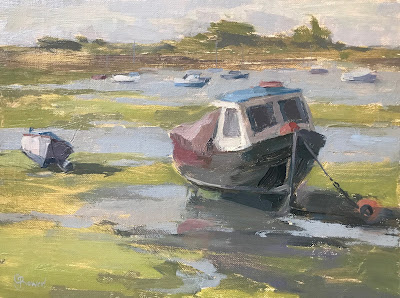 #184 'Fishing Boat, Emsworth Harbour' 18x24cm